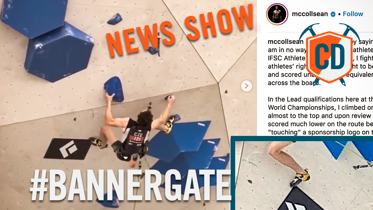 EpicTV Video: Banner Controversy At The Climbing World Championships